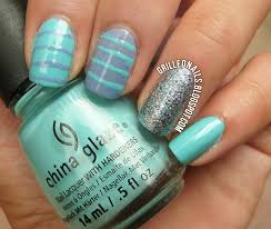 cute blue u0026 purple summer nails