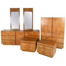 century bedroom furniture stunning mid century burl wood bedroom set by milo baughman for lane