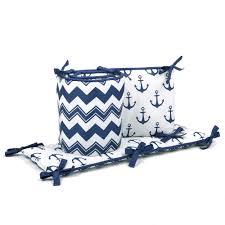 amazon com anchor nautical 4 piece baby crib bedding set in navy