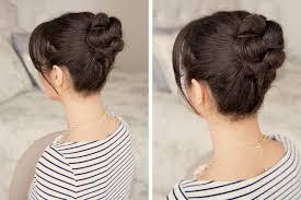 Frisuren Mittellange Haare Dutt by Eine Effektvolle Hochsteckfrisur Aus Einem Dutt Mit Flechtzopf