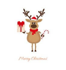 christmas reindeer christmas reindeer with gifts royalty free vector image