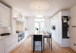 Urban Kitchen London - traditional meets contemporary white kitchen transitional