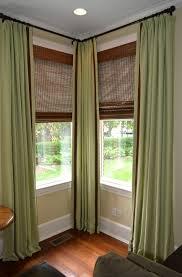 Window Curtain Decor Gorgeous Corner Window Curtain Ideas Curtains Rod Decor
