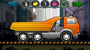 cartoon car back cartoon about cars kids truck video dump truck wash salon