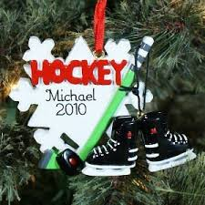 personalized hockey player ornament health personal