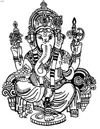 gunina bhagwan ganesh coloring page kids website for parents