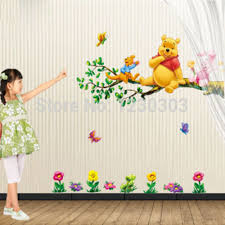animal cartoon winnie pooh vinyl wall stickers for kids rooms boys