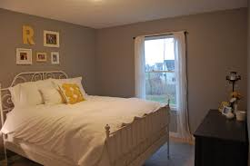 Gray Paint White Trim Bedroom by The Guest Room Before And After The In The Red Shoes
