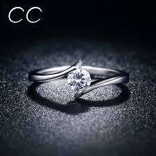 design an engagement ring simple design engagement ring white clear zirconia classic wedding