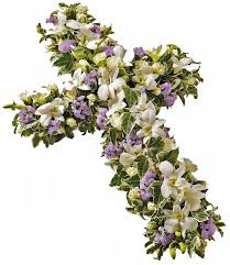 orchid cross wreath funeral flower delivery