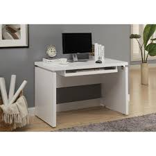 elegant white desk with keyboard tray 66 for your new trends with