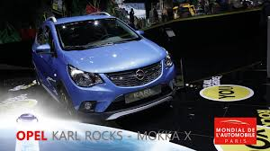 opel karl rocks video opel karl rocks et mokka x en direct du mondial de