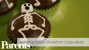 easy halloween treats skeleton cupcakes parents youtube