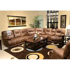 sectional stetson ridge brown 6pc power reclining sectional