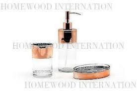 Glass Bathroom Accessories by Taiwan Bath Accessories Glass Bathroom Set Soap Dispenser