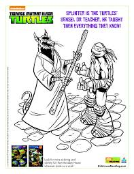 nickelodeon teenage mutant ninja turtle coloring pages coloring