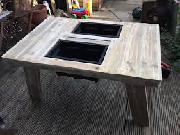 Patio Furniture Made Out Of Pallets by Beer Wine Cooler Table Made Out Of Pallet U2022 1001 Pallets