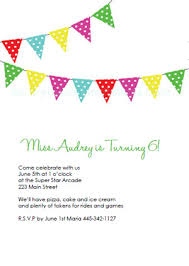 free printable birthday party invitations clasic bunting banner