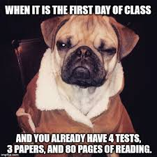 First Day Of Class Meme - college life imgflip
