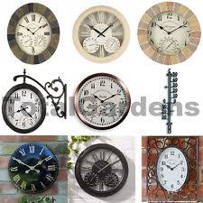 Patio Clocks Outdoor Thermometer Garden Clock Thermometer Ebay