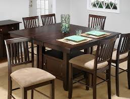 enchanting dining room tables with storage jofran bakers cherry