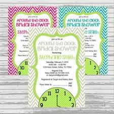 around the clock bridal shower clock bridal shower invitations wording always a idea