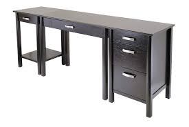 Large Black Computer Desk Interesting Contemporary Office Desk Design With Rectangular Black