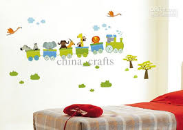 Hot Sale Removable Animal Train Wall Stickers Nursery Wall - Cheap wall stickers for kids rooms