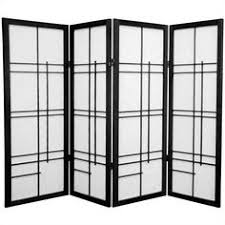 oriental style 4 panel folding screen room divider home decor