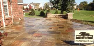 Concrete Backyard Ideas Patio Stamped Concrete Patio Ideas Home Interior Design