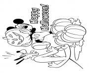 minnie mouse as a witch disney halloween coloring pages printable