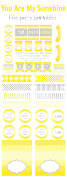 printable birthday decorations free we heart parties free printables you are my sunshine free printables