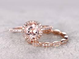 morganite bridal set 2 morganite bridal set engagement ring gold diamond wedding