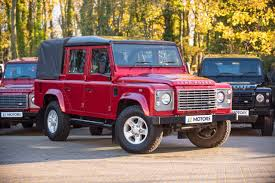 red land rover defender second hand land rover defender 110 xs double cab pick up no vat