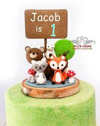 woodland cake topper animal cake topper birthday baby shower