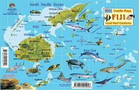 Put In Bay Map Fiji Map U0026 Reef Creatures Guide Franko Maps Laminated Fish Card