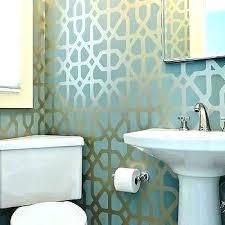 bathroom wallpaper designs blue and gold bathroom wallpaper designs for powder room with