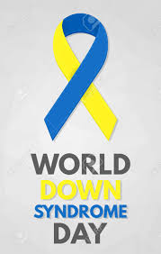 blue and yellow ribbon world day poster detailed badge blue and yellow