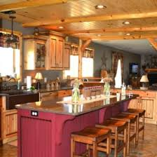 Kitchen Pine Cabinets Rustic But Elegant Kitchen With Warm Knotty Pine Cabinets