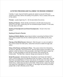 layout of wedding ceremony program wedding ceremony outline daway dabrowa co