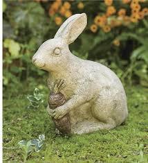 handmade volcanic rabbit garden statue decorative garden