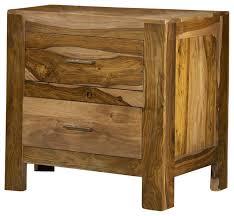 modus atria 2 drawer nightstand in natural sheesham contemporary