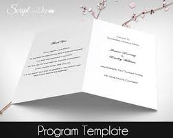 Catholic Wedding Program Cover Catholic Ceremony Etsy