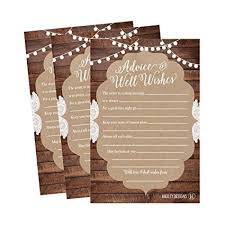 wedding well wishes 50 4x6 rustic wedding advice well wishes for the