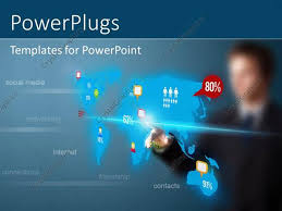 templates powerpoint crystalgraphics powerpoint template businessman pressing social media button on
