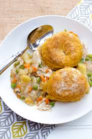 how to make a turkey pot pie with thanksgiving leftovers pot pie with sweet potato biscuits