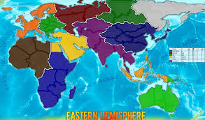 World Map With Names Of Countries by Eastern Hemisphere Map With Names Eastern Hemisphere Map