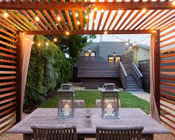 string lights modern pergola pergolas and backyard
