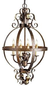 Chandelier Metal Currey And Company 9390 Coronation 4 Light Single Tier Chandelier