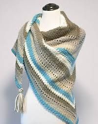 ravelry cozy striped shawl pattern by kara gunza